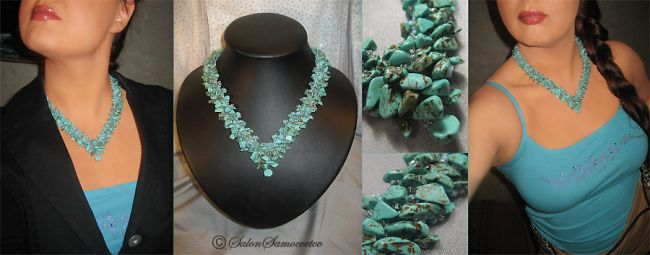 Эксклюзивные украшения из бисера и полудрагоценных камней :: Колье :: 545.